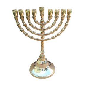 brass hanukkah menorah