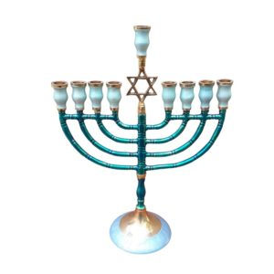 Hanukkah Menorah Enamel Coated
