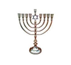 Hanukkah Menorah With Star of David